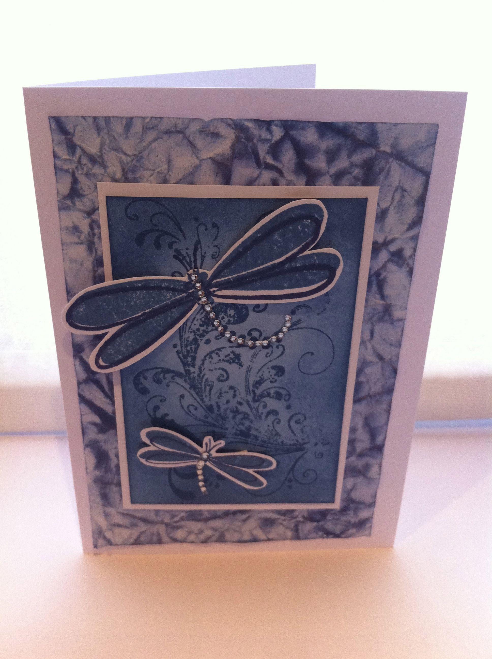 Kaszazz Card Making Ideas Part - 43: Dragonfly Card - Kaszazz