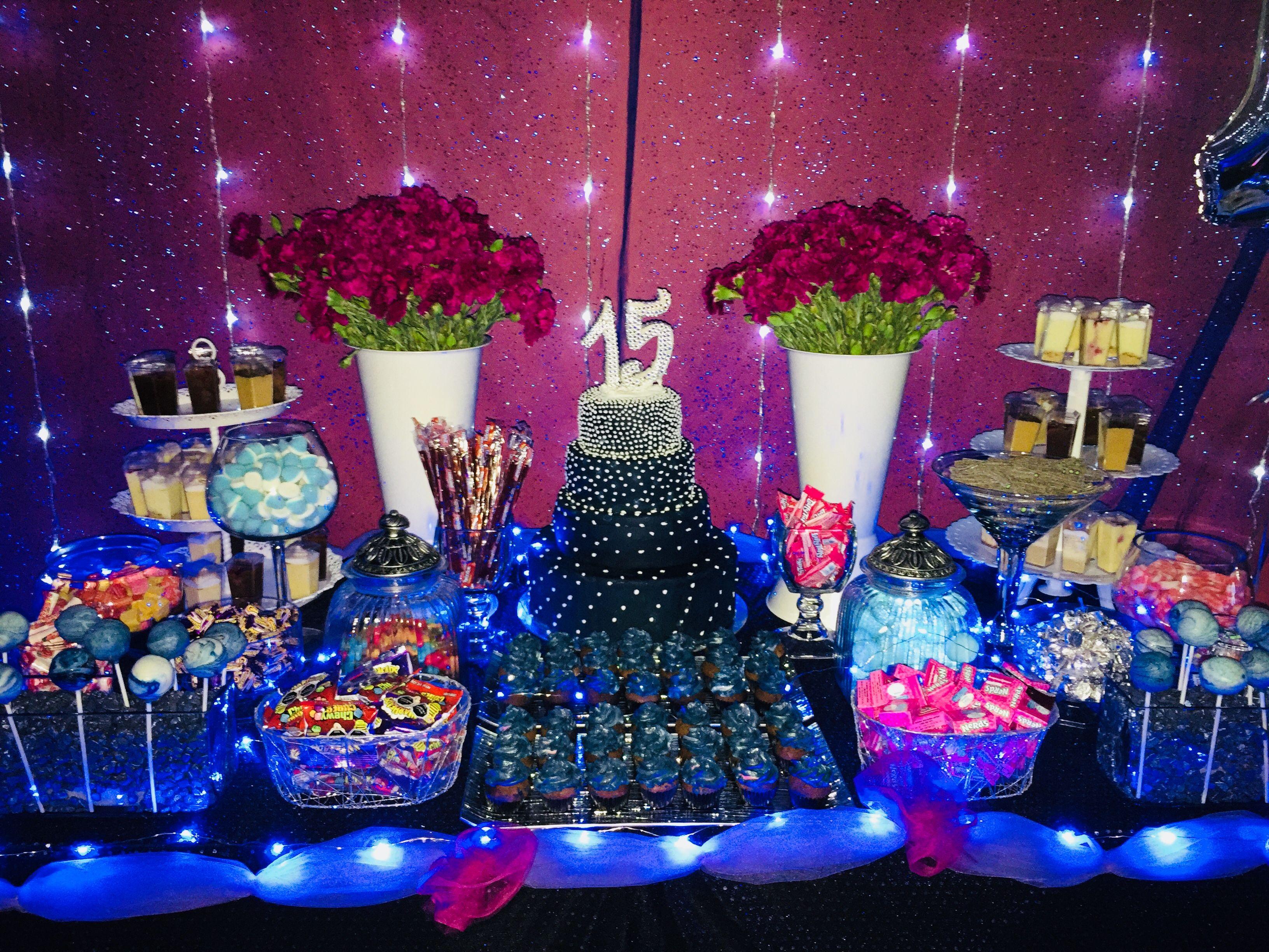 Festa De 15 Anos Ideas: Candy Bar 15 Años Tema Galaxia
