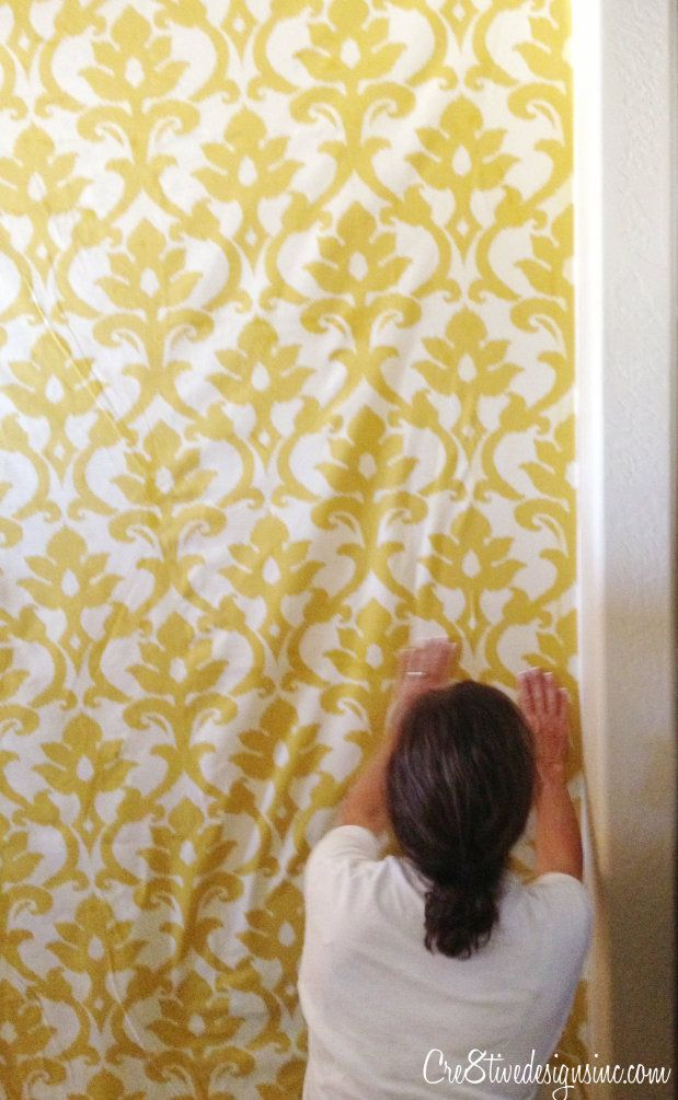 How to wallpaper with fabric using starch - Cre8tive Designs Inc ...
