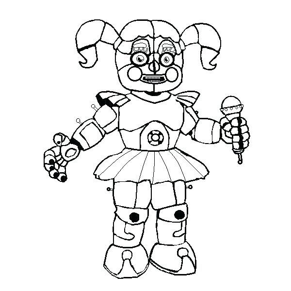Various Five Nights At Freddy S Coloring Pages To Your Kids Em