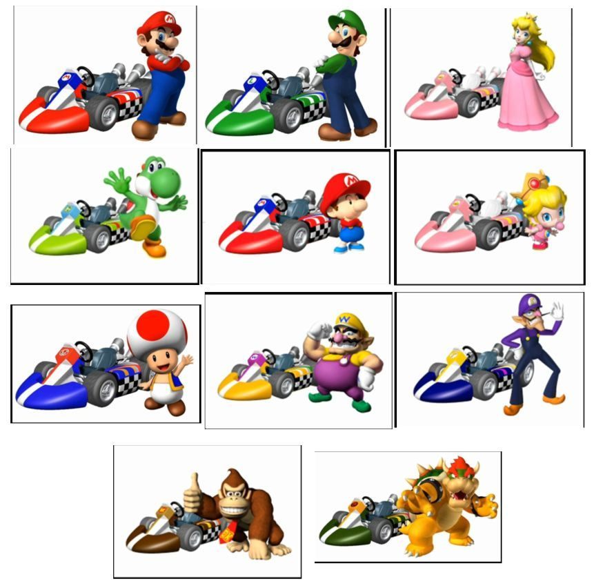 Gallery For gt Mario Kart Characters