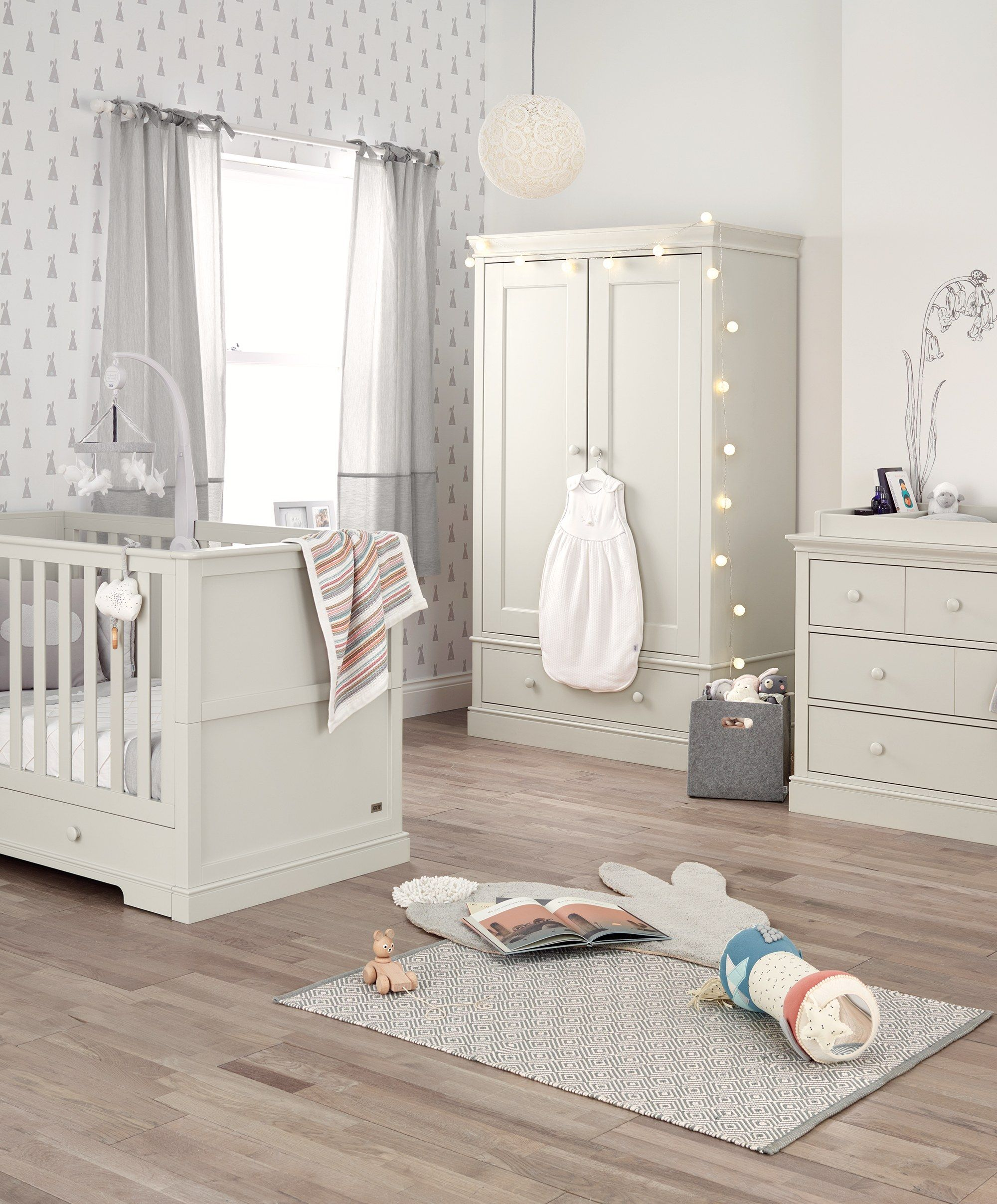 Oxford 3 Piece Nursery Furniture Set With Cot To Toddler Bed