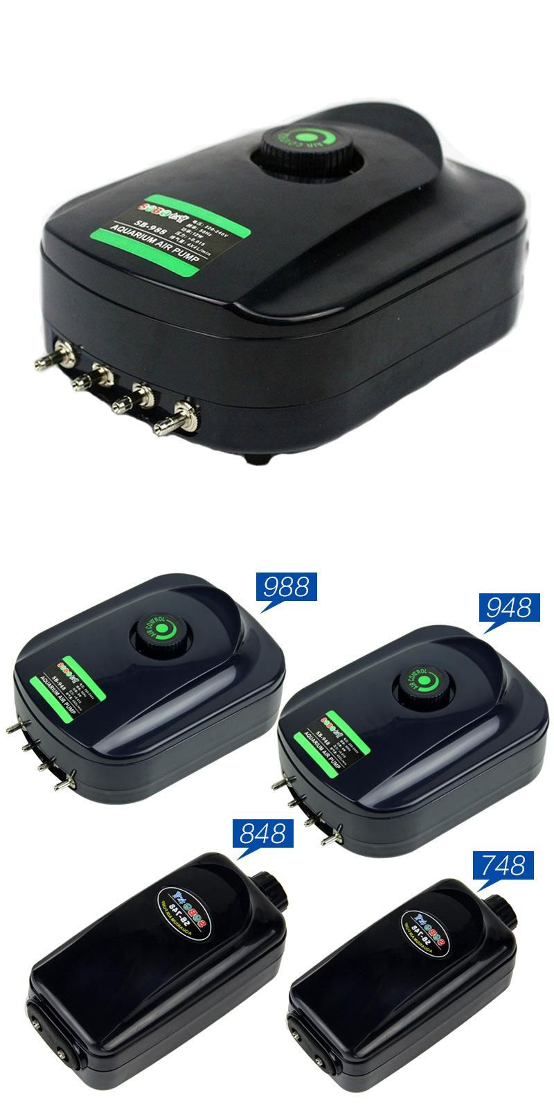 [Visit to Buy] Aquarium air pump 220v AC Silent Compressor