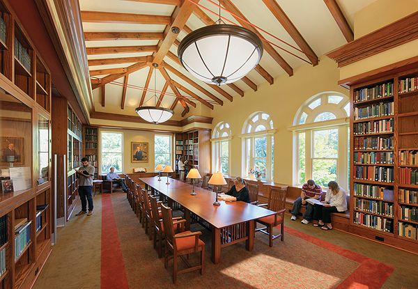 Like the vaulted barn-like ceiling and the lighting in ...