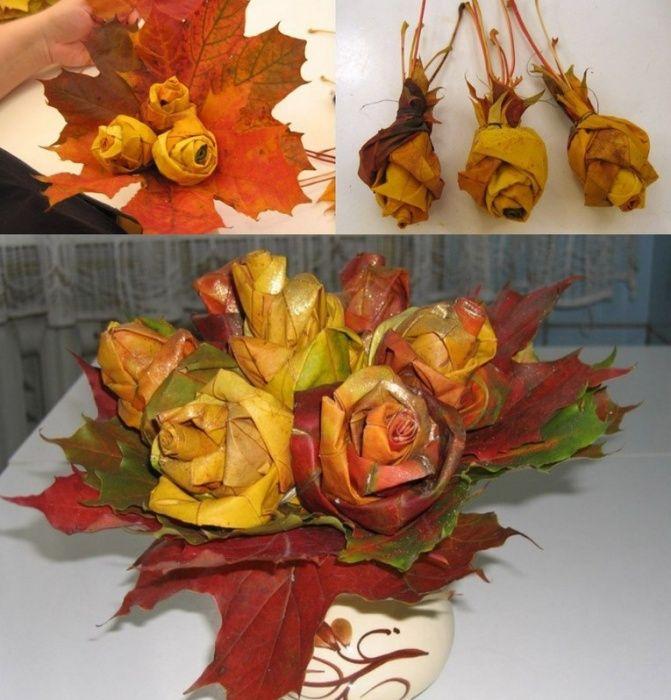 Как сделать подделку из листьев фото 514