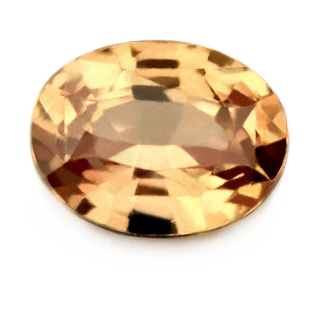 1.26ct Certified Natural Peach Sapphire