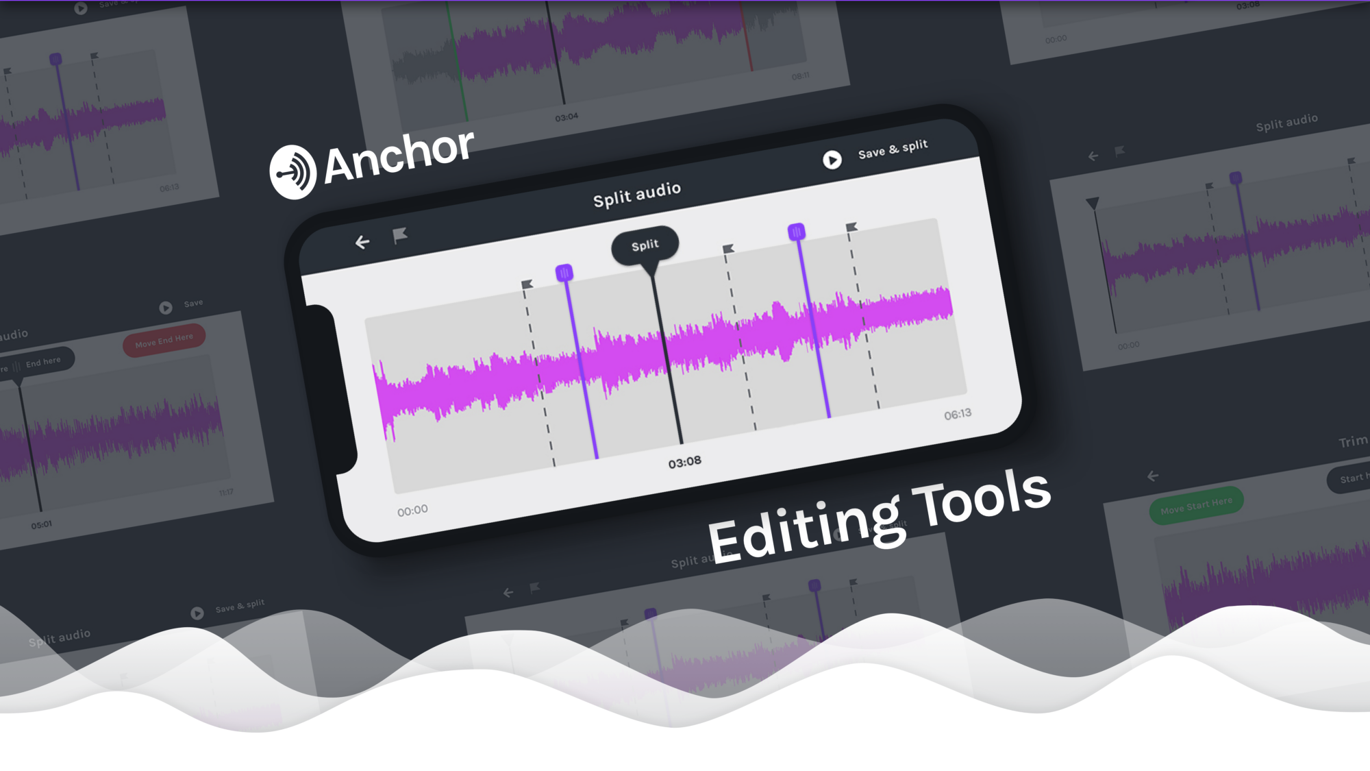 New from Anchor the first audio editing tools built