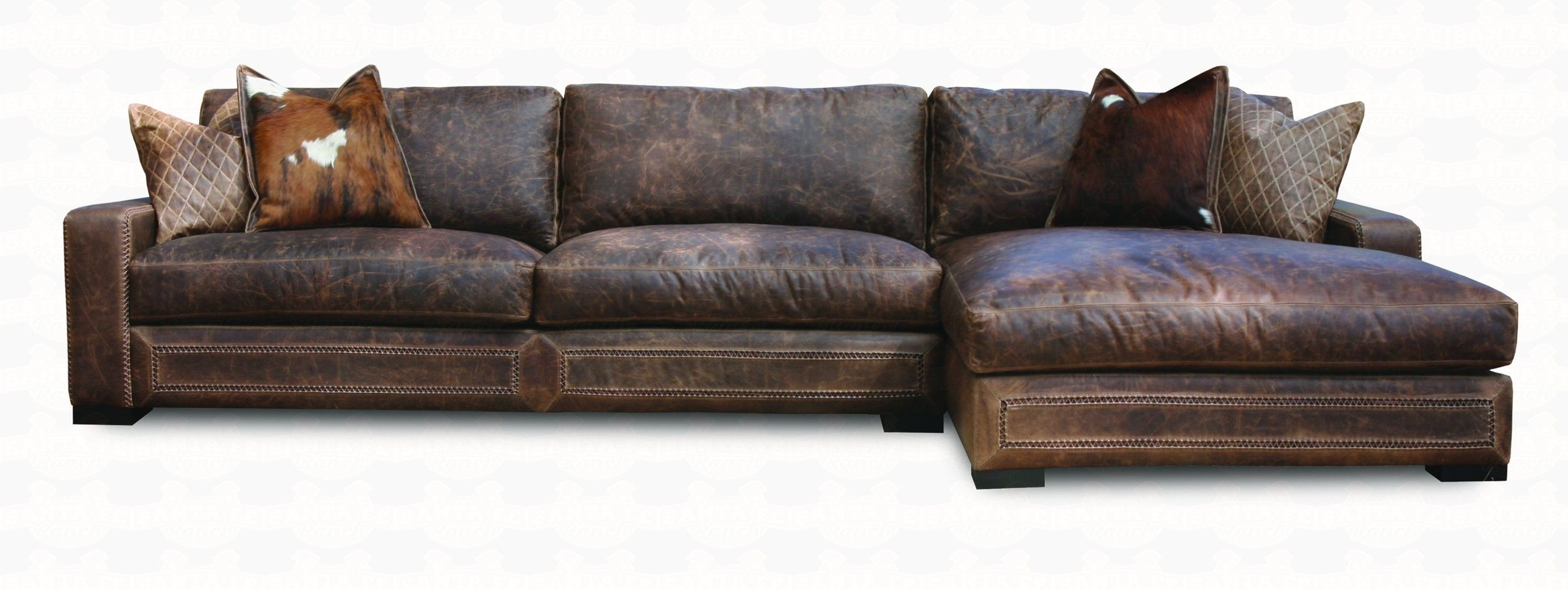 Eleanor Rigby Downtown Cowboy Leather Sectional Sofa