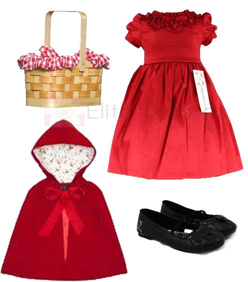 Diy Little Red Riding Hood Costume For Little Girls Little Girl