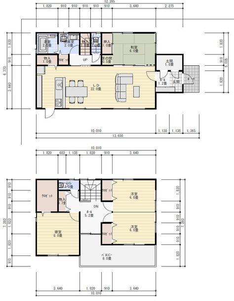 38坪4ldkのリビングの大きな間取り Craftsman Floor Plans Floor