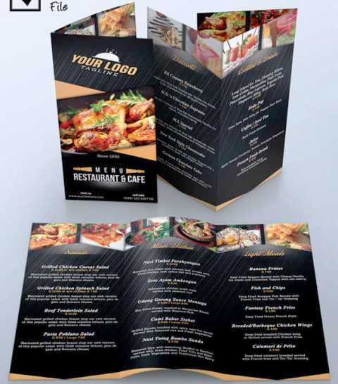 Desain Brosur Restoran  Coffee Shop Design    Pamphlet