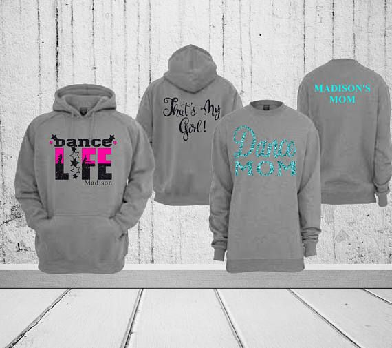 1ea0de884 Dance Mom Life Front and Back Personalized Tank Top T-Shirt Sweatshirt  Hoodie Any color gray white b