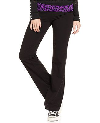 Jenni Juniors Pants, Flare Leg Lace Banded Yoga - Juniors Pants - Macy's, Carissa