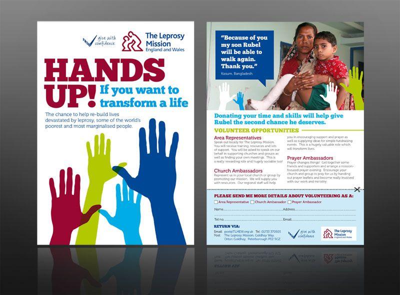 Charity Leaflet Leprocy Mission Marketing Ideas Leaflet