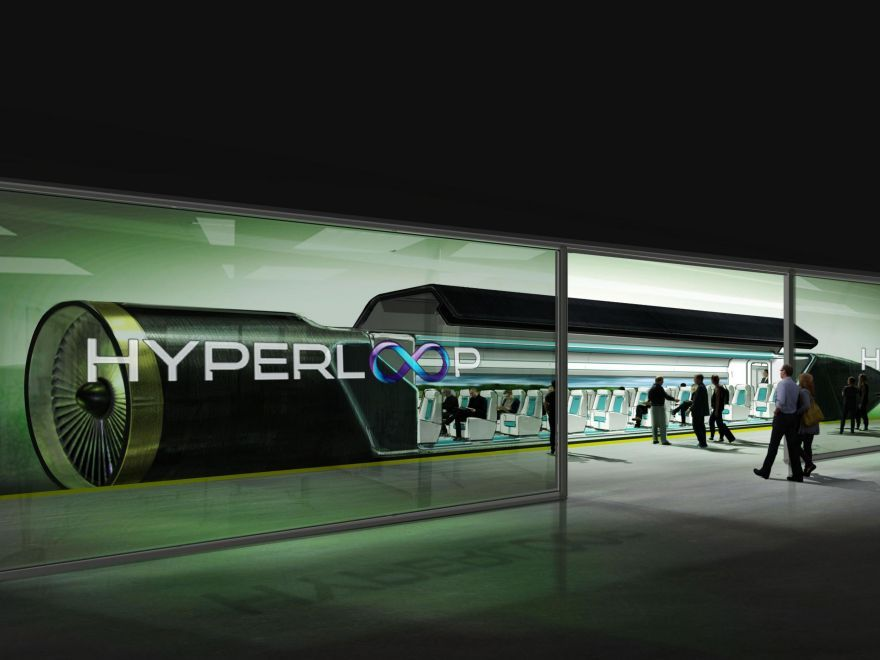Первый тест вакуумного поезда Hyperloop
