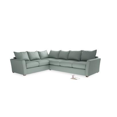 Large Left Hand Pavilion Corner Sofa Bed In Anchor Grey Clever Laundered Linen Comfy Sofa Corner Sofa Sofa Bed Mechanism