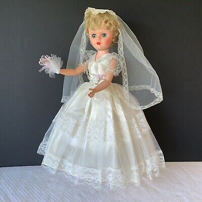 "Details about Vintage 24"" Bride Doll Original Dress & Jewelry Hard Plastic & Vinyl Marked ""A"" #bridedolls"