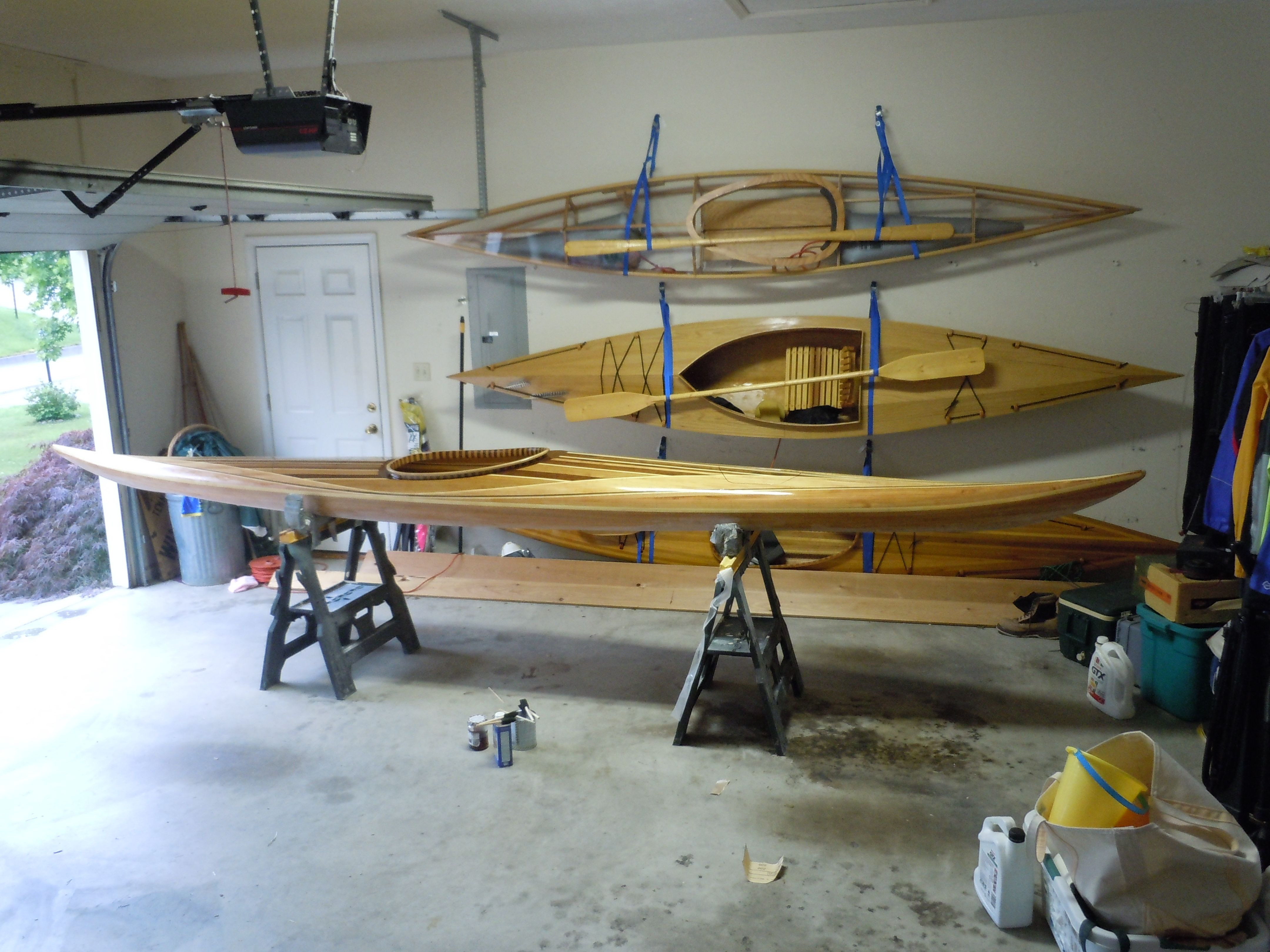 Skin on frame kayak plans - Cedar Strip Skin On Frame Stitch And Glue Boats