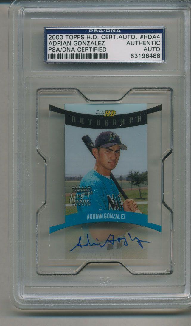 Adrian Gonzalez 2000 Topps HD Certified PSA DNA Autographed Signed 83196488 | eBay #adriangonzalez #gonzalez #2000 #topps #signedcard autograph