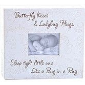 Found it at Wayfair - Butterfly Kisses & Ladybug Hugs... Child Frame