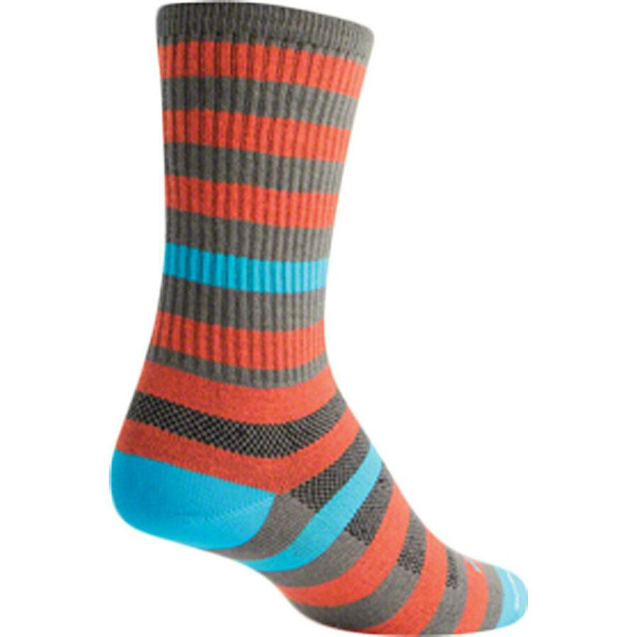 SockGuy Classic Crash Test Dummy Sock Orange LG//XL