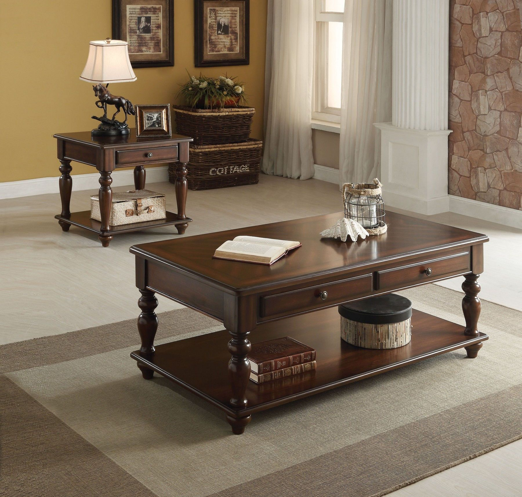 Farrel Coffee Table 82745 Acme Corporation Coffee Tables Coffee Table Traditional Coffee Table Living Room Table Sets [ 1716 x 1800 Pixel ]