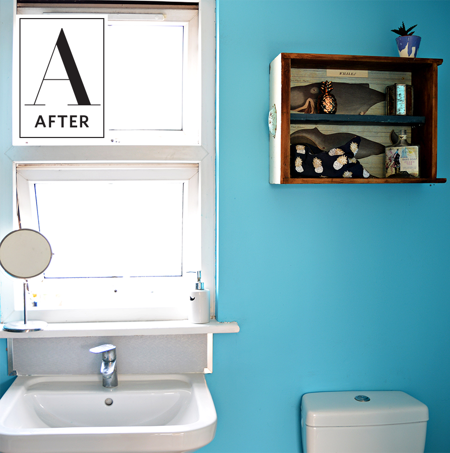 One Man\'s Junk Is Another\'s Cute Hanging Bathroom Storage ...