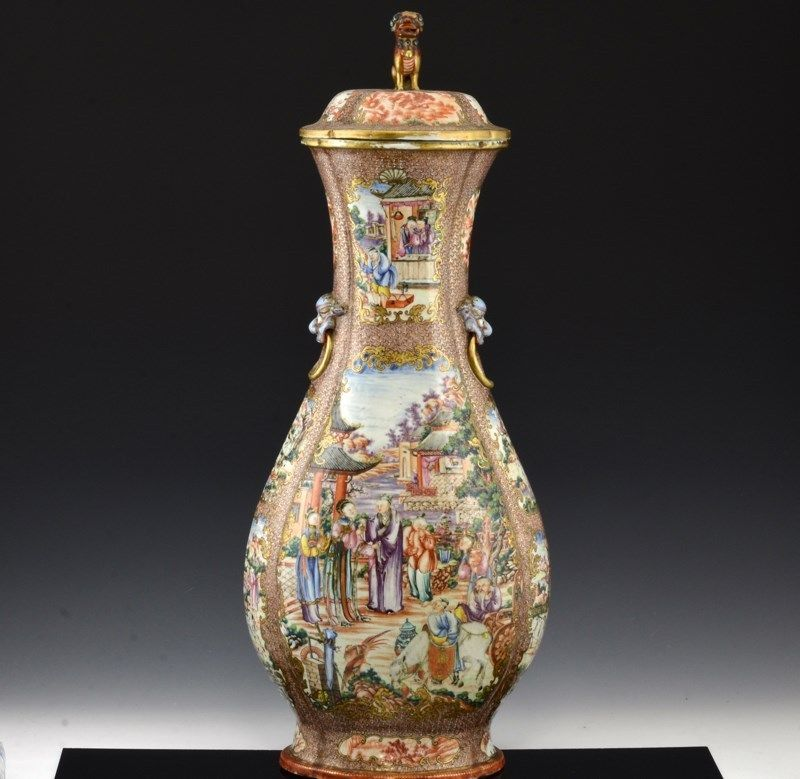 MUSEUM QUALITY C1780 CHINESE QIANLONG ROCKEFELLER PALACE WARE FAMILLE ROSE VASE in Antiques, Asian Antiques, China, Vases | eBay