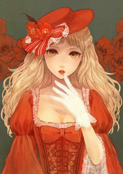 Anime 2480x3507 Con Flores Rojas Originales Romiy Individuales