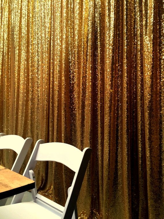 Custom sizes Available! Gold Sequin Photography Backdrop