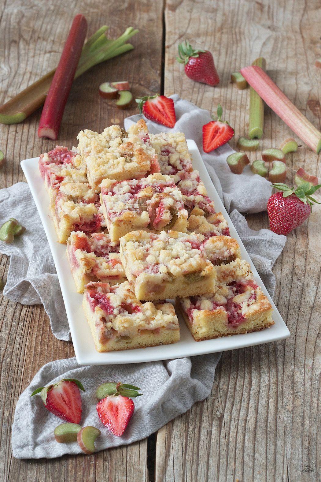 Erdbeer Rhabarber Kuchen Rezept Kuchen Pinterest Erdbeer