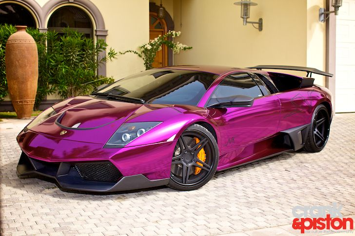 Pink Chrome Paint Car Lamborghini Murcielago Adv 1 670 Sv Purple Photos
