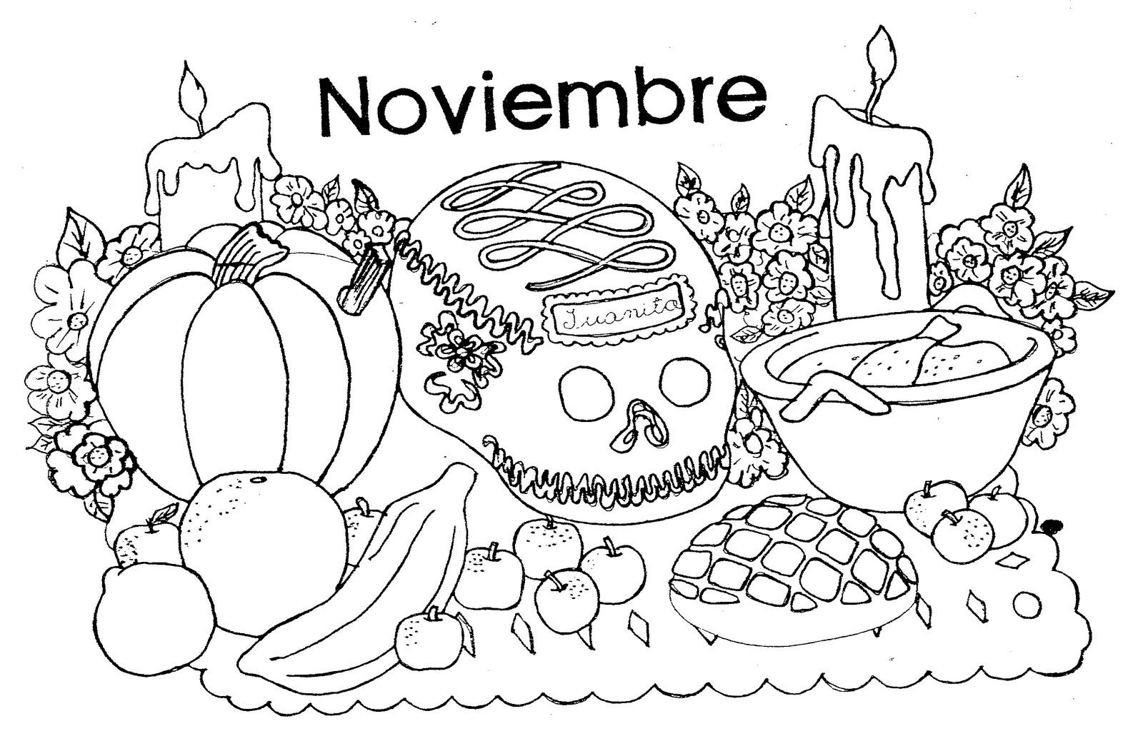 Dibujos Para Colorear Dia De Muertos Ii Mamas Y Bebes Blog
