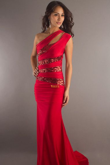 Online shopping 2012 Collection Trumpet Mermaid One shoulder Floor length Silk Like Satin affordable in vogue for each occasion. Latest design of  cheap formal dresses & wedding gowns on sale for fashion women and girls.