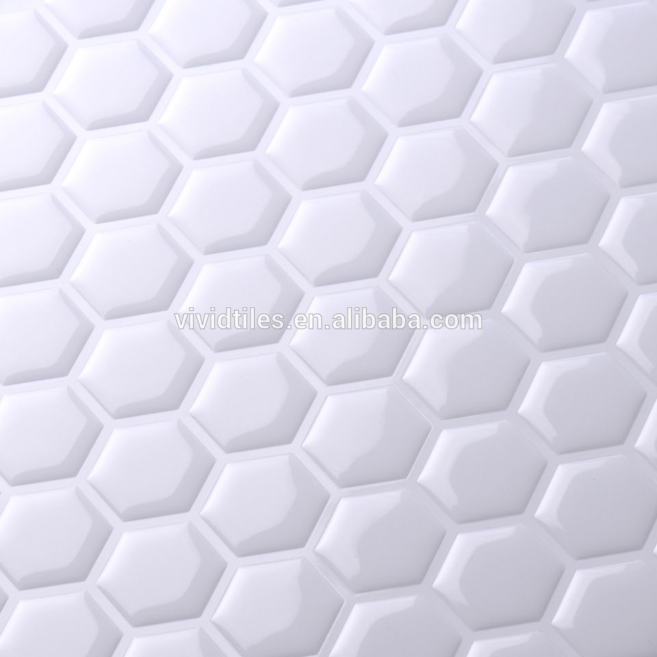Faux Ceramic Tile Design Idea Wall Decor Peel And Stick Vinyl Tile For Kitchen Makeover Home Decoration Decorative Tile Decor Ceramic Tiles