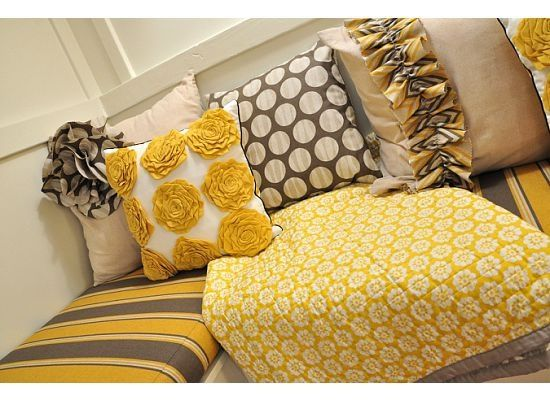 Yellow And Gray Add It To The Black White Master Bedroom