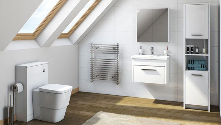 Use The All White Bathroom Wallpaper For Your Home Mfi Smart Furniture