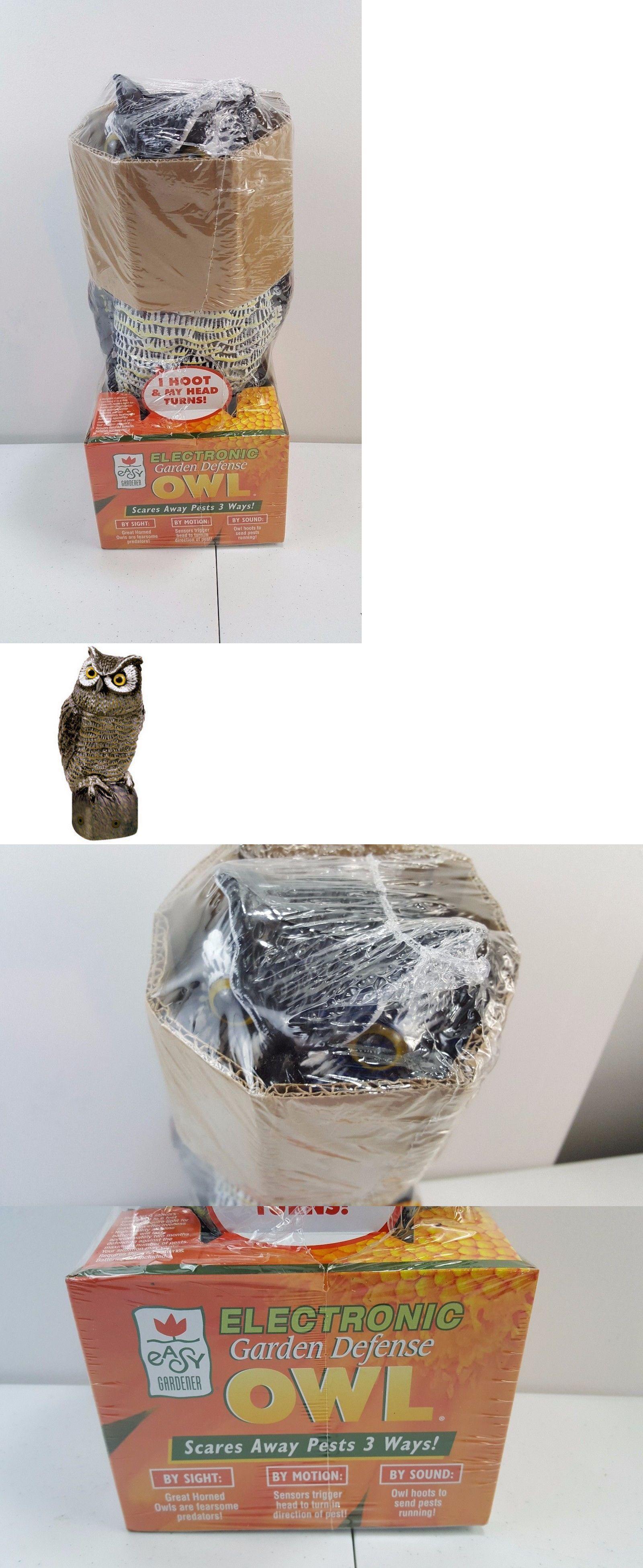 Ultrasonic Pest Repellers 181035: Easy Gardener 8021 Garden Defense  Electronic Sensor Owl   New