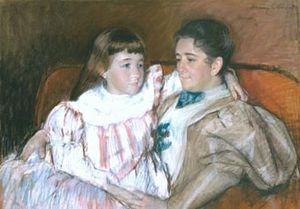 Louisine Havemeyer and her Daughter Electra, 1895 pastel on paper by Mary Cassatt. Collection of Shelburne Museum