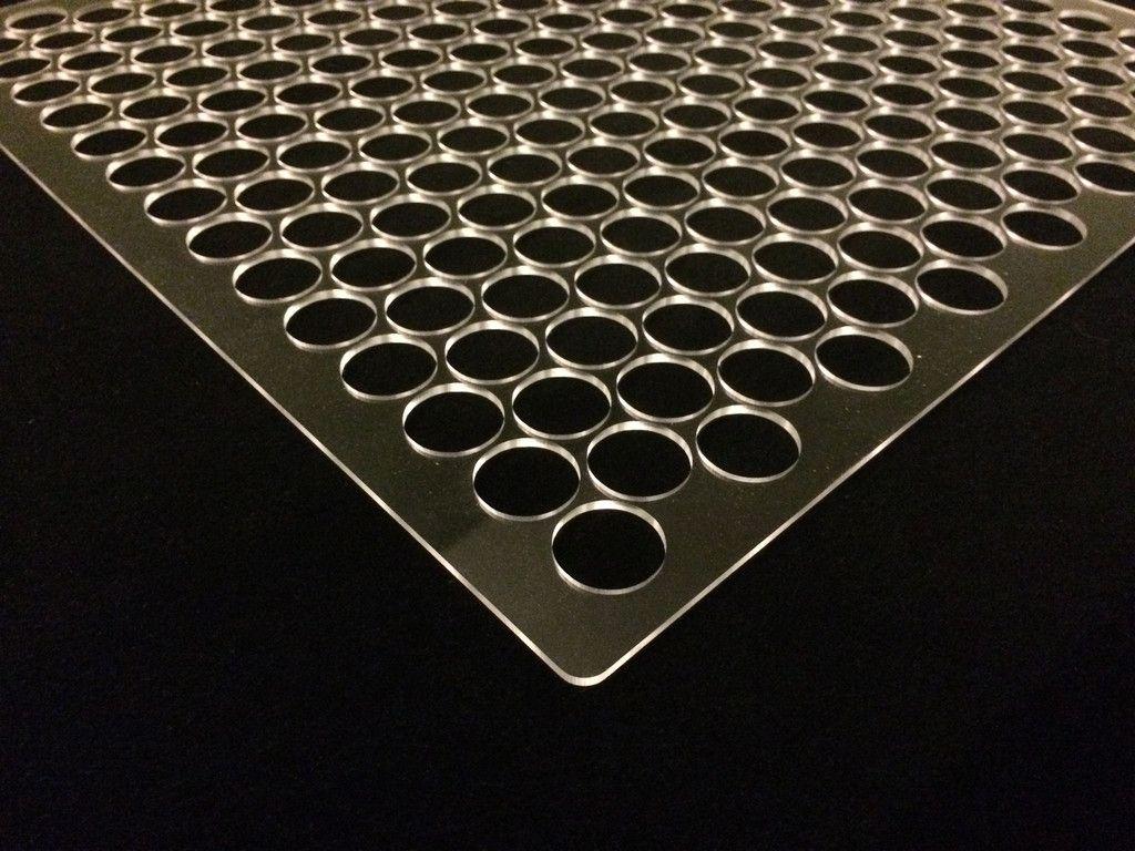 Basic Penny Floor Tile Template Jig (plexiglass) - With Border ...