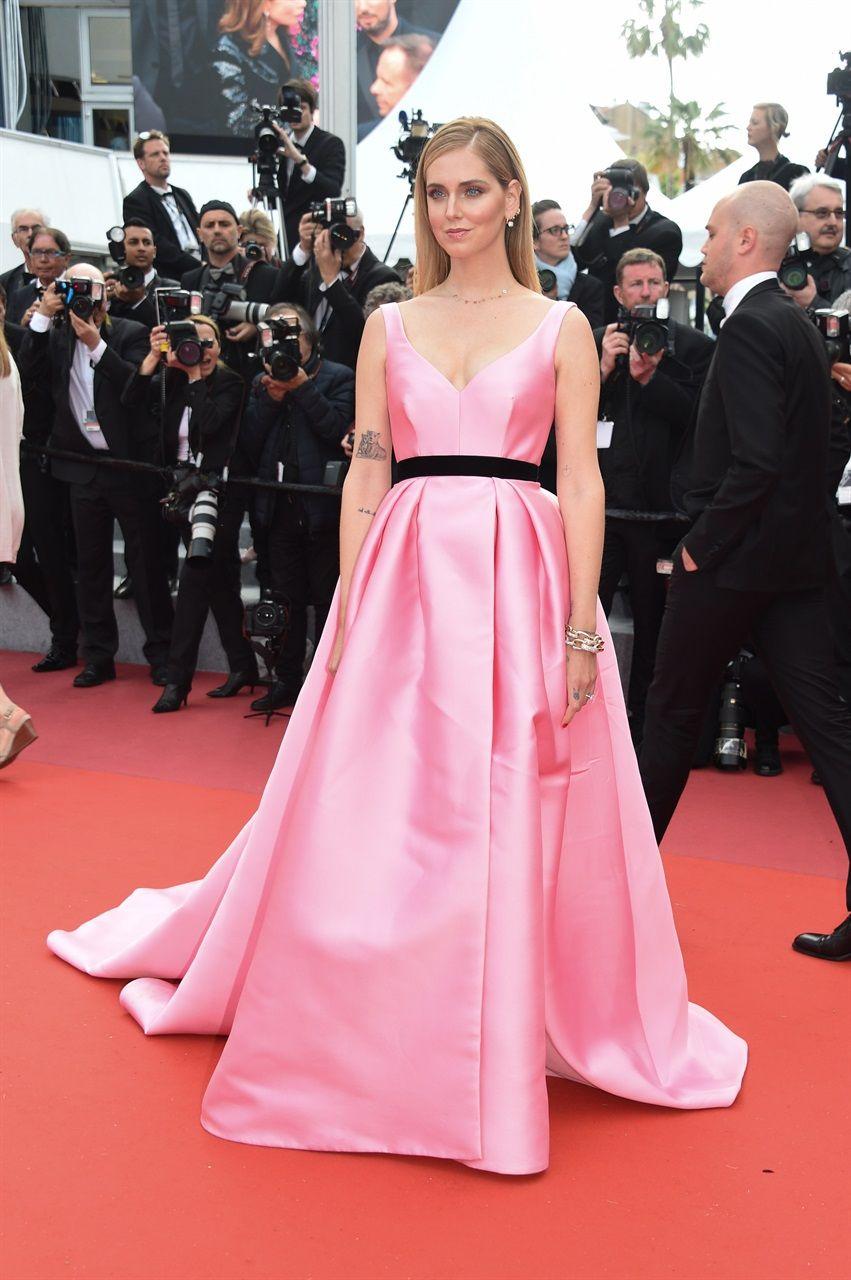 1c54488d5e85 Chiara Ferragni - Festival di Cannes 2018  in Alberta Ferretti e gioielli  Pomellato