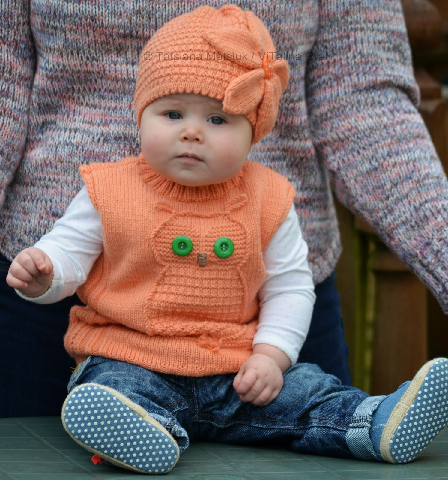 ViTalina Craft: Wise Owl Baby Vest Knitting Pattern | Knitting for ...