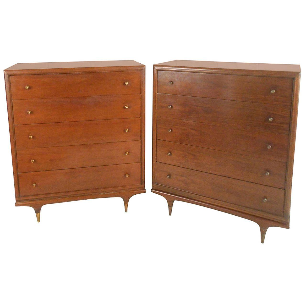 Best Mid Century Modern Kent Coffey Continental Highboy Dresser 400 x 300
