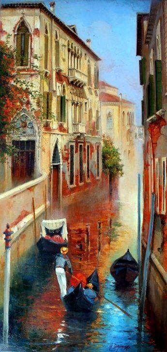Venice Georges Corominas Cuadros Peinture De Venise Comment