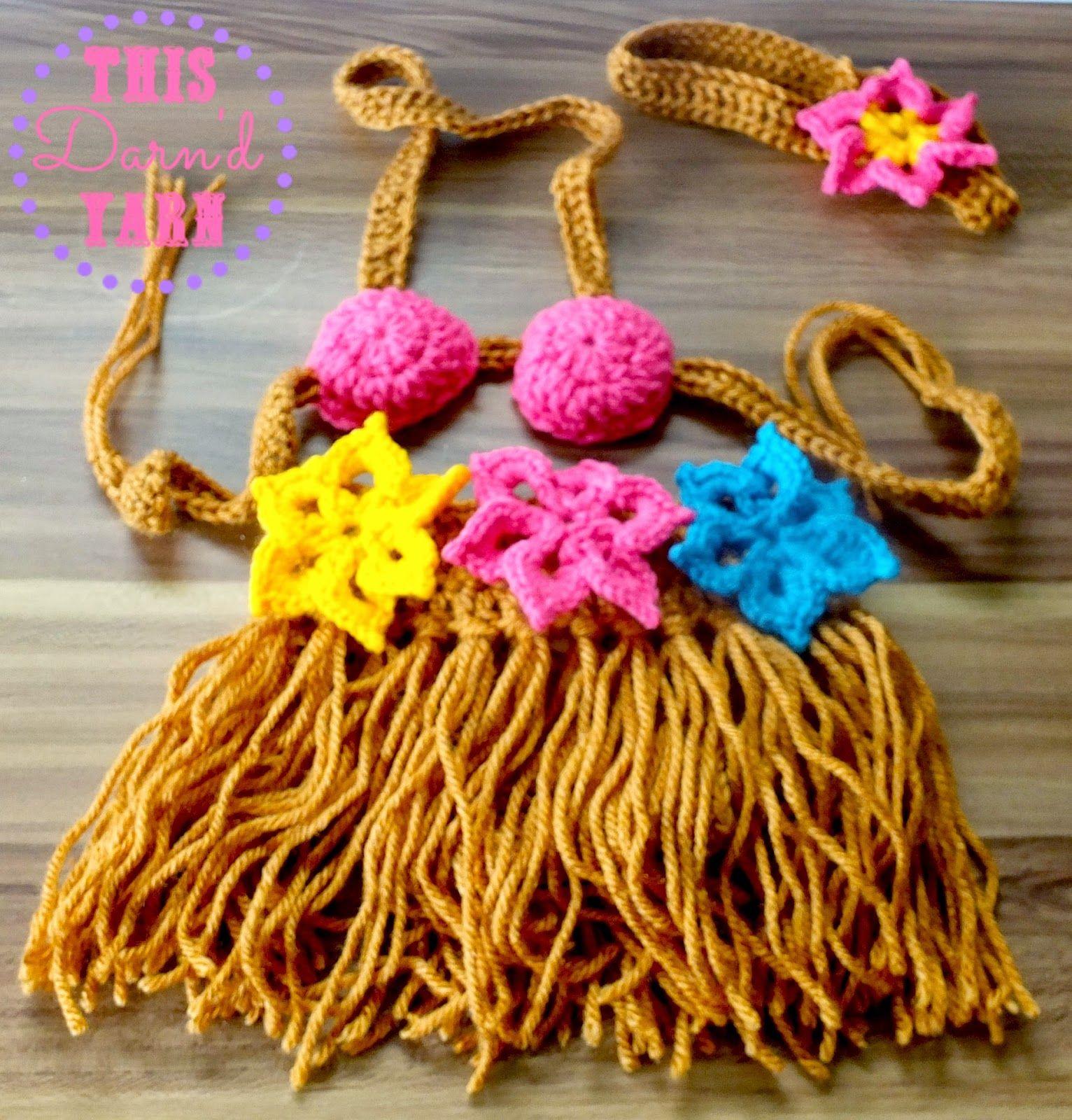 Free Crochet Pattern: Baby Girl Hawaiian Outfit Crochet ...