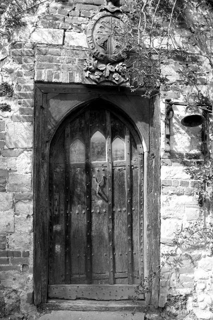The haunted door of Beeleigh Abbey in Maldon, UK. The door was the servants' entrance and some people say the door is haunted by the ghost of a maid.