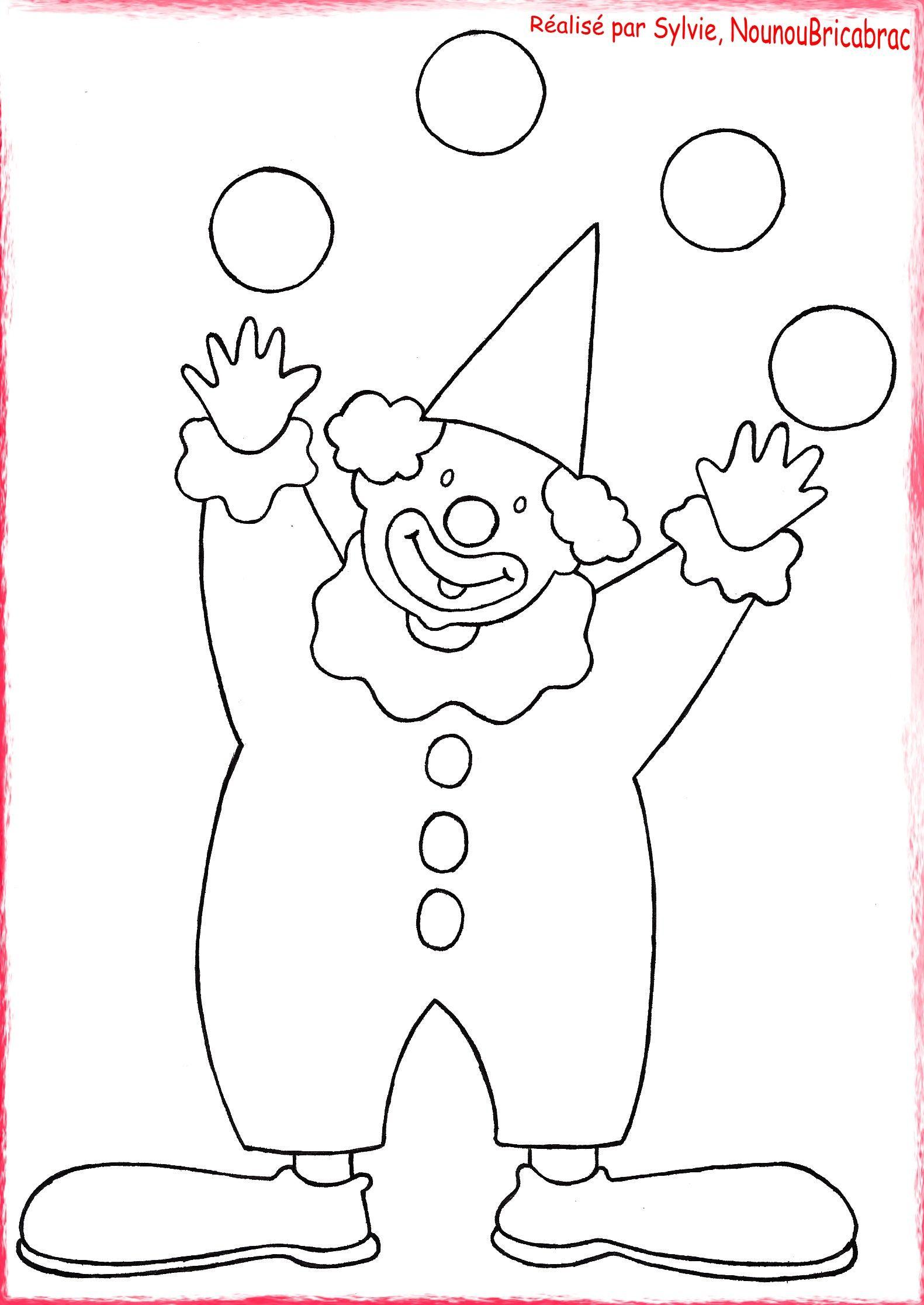 Bonjour  toutes et  tous Voici un clown  colorier pour tous les enfants