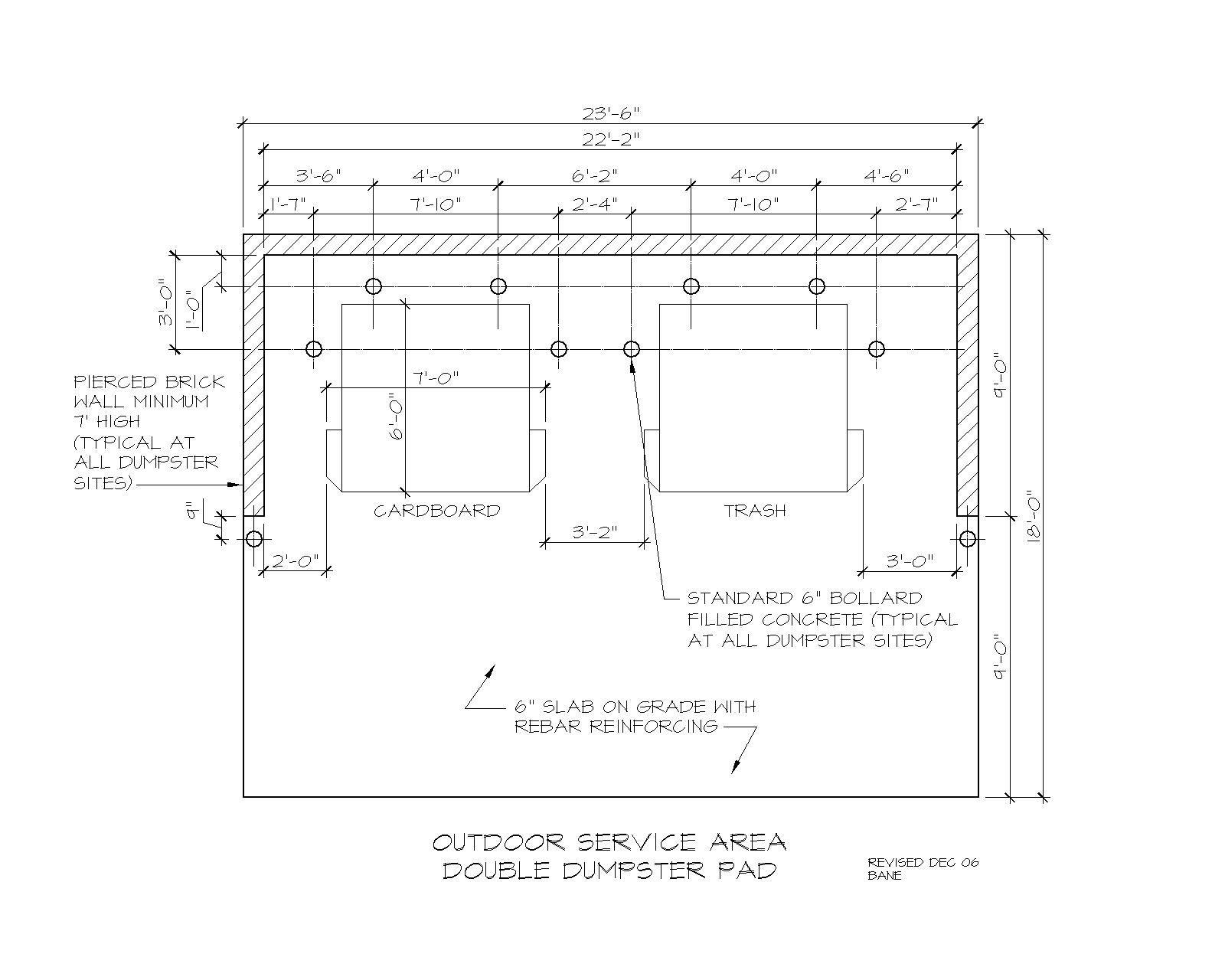 Dumpster Enclosure Dimensions Google Search Dumpster Design Brick Wall