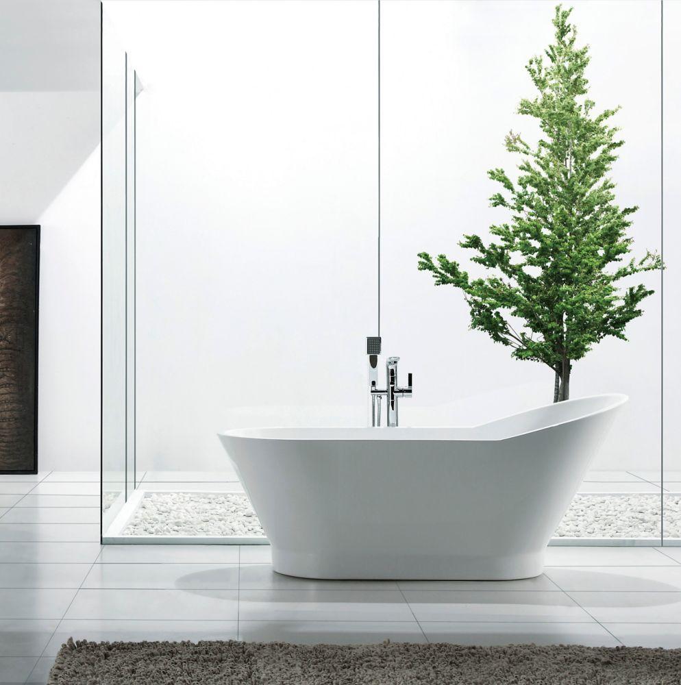 Zen 5 Feet 6 Inch Elliptical Freestanding Non Whirlpool Bathtub In