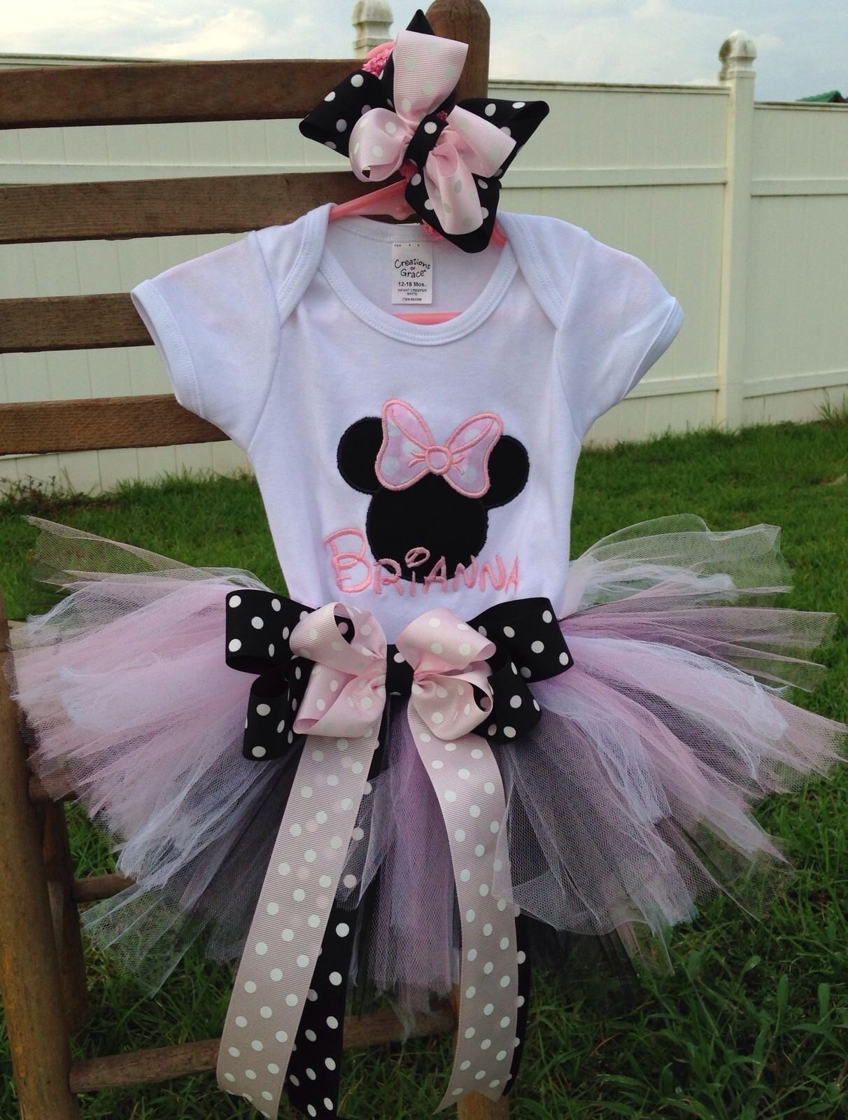 Minnie Mouse birthday outfit  Www.etsy.com/shop/annabelliesboutique.  10% with code SCHOOL10